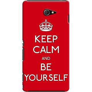 Kasemantra Keep Calm And Be Yourself Case For Sony Xperia M2