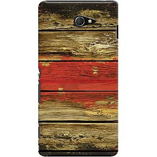 Kasemantra Textured Wood Case For Sony Xperia M2