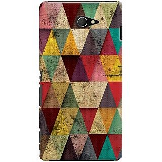 Kasemantra Triangles In Grunge Case For Sony Xperia M2