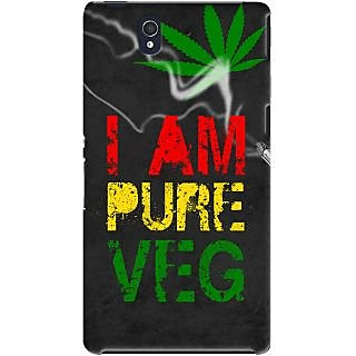 Kasemantra I Am Pure Veg Case For Sony Xperia Z
