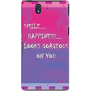 Kasemantra Smile Quote Case For Sony Xperia Z