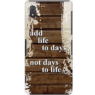Kasemantra Add Life To Days Case For Sony Xperia Z2