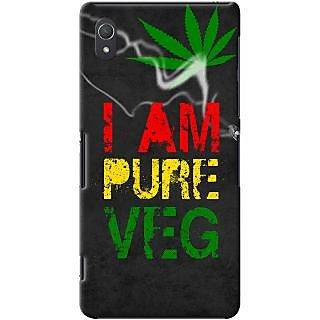 Kasemantra I Am Pure Veg Case For Sony Xperia Z2