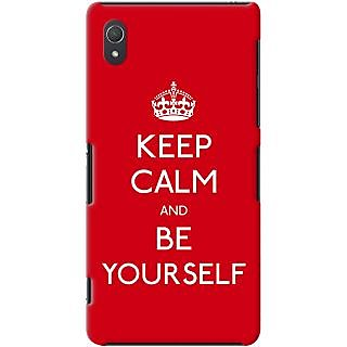 Kasemantra Keep Calm And Be Yourself Case For Sony Xperia Z2