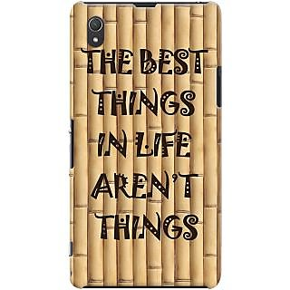 Kasemantra Quotes On Bamboo Case For Sony Xperia Z1