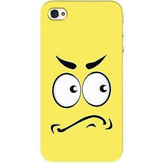 Kasemantra Angry Face Case For Apple Iphone 4, Apple Iphone 4S
