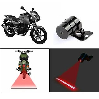 Uneestore Bike Rear Laser Safety Line Fog Light Red Yamaha Crux (abc4345)