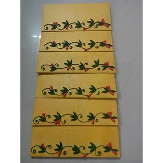 BEAUTIFUL QUILLED ENVELOPES- 6 PC SET