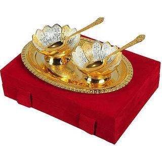 Golden Bowl & spoon Set