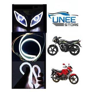 Uneestore Flexible 30Cm Bike Headlight LED Drl White - Yamaha Yzf (abc3043)