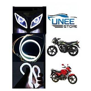 UneestoreFlexible 30Cm Bike Headlight LED Drl BLUE -Tvs Apache Rtr (abc3078)