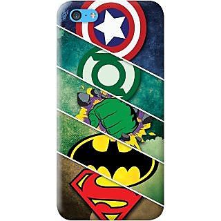Kasemantra Superheroes Case For Apple Iphone 5C