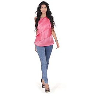 Farrago Layered Pink Top