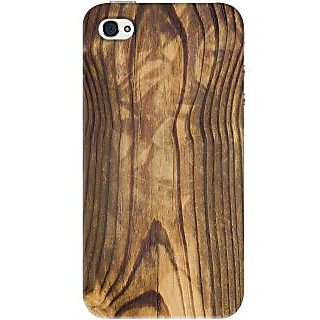 Kasemantra Wooden Texture Case For Apple Iphone 4-4S