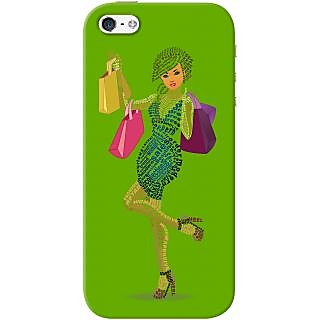 Kasemantra Shopaholic Girl In Dark Green Case For Apple Iphone 5-5S