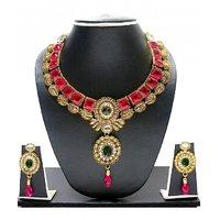 Zaveri Pearls Kundan Necklace Set