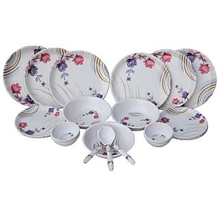 CZAR 24 PIC NEW DINNER SET-FLOWER PRINT-1004