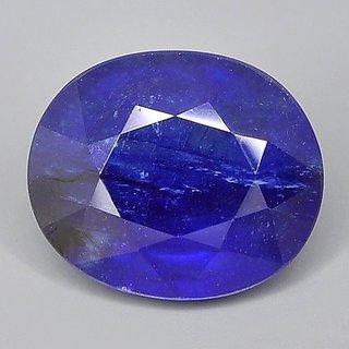 5.25 Ratti Round Shape Real  Blue Sapphire (Neelam) Gemstone