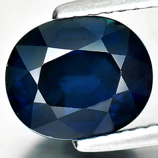 8 Rattti Natural Gorgeous Blue sapphire (Neelam) Gemstone