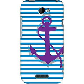 Kasemantra Purple Anchor Case For HTC One S
