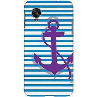 Kasemantra Purple Anchor Case For LG Google Nexus 5