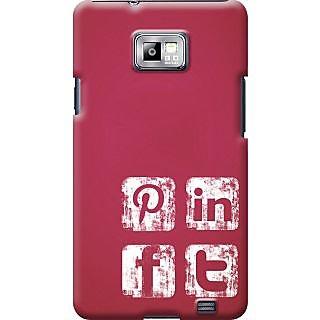 Kasemantra Social Media Icons Case For Samsung I9100 Galaxy S2