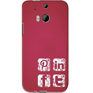 Kasemantra Social Media Icons Case For HTC One M8