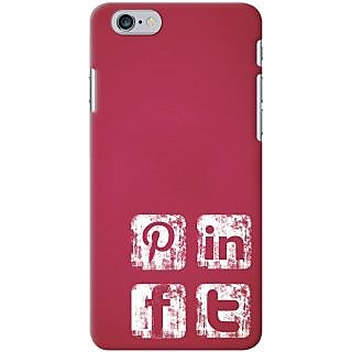 Kasemantra Social Media Icons Case For iPhone 6 Plus