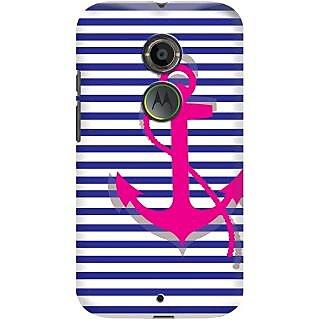 Kasemantra Striped Anchor Case For Motorola Moto X2