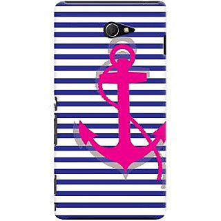 Kasemantra Striped Anchor Case For Sony Xperia M2 LTE D2303