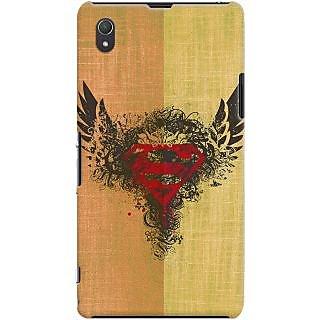 Kasemantra Superman Logo Case For Sony Xperia Z1