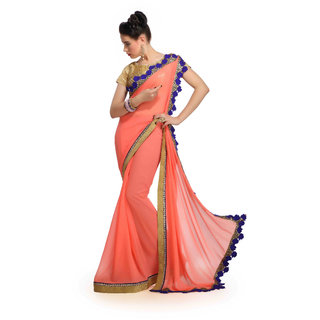 HEAVY BORDER WORK SAREE 610