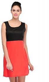 Klick Back Bow Style Dress Red