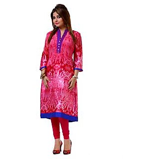 Dhavani Pink Georgette and Satin Designer Kurti