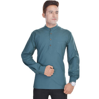 Kalrav Fashion Solid Grey Cotton Kurta