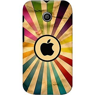Kasemantra Apple In Rainbow Case For Moto E