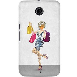 Kasemantra Shopaholic Girl Case For Google Nexus 6