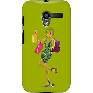 Kasemantra Shopaholic Girl In Apple Green Case For Moto X