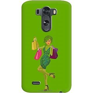 Kasemantra Shopaholic Girl In Dark Green Case For Lg G3