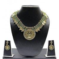 Zaveri Pearls Lakshmi Devi  Jewellery Set