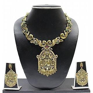 Zaveri Pearls Radha Krishna Jewellery Set