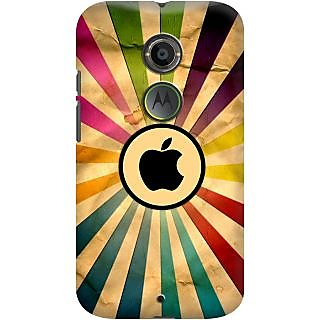 Kasemantra Apple In Rainbow Case For Moto X2