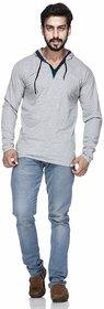 Demokrazy Men'S Silver Round Neck T-Shirt