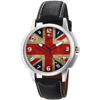 The Floyd Round Dial Black Leather Strap Quartz Watch For Men