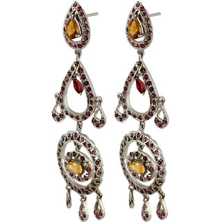 Silver Kreations-SKEAR2512-earring-jhumki-women-girl-stone-jewellery-jewelry
