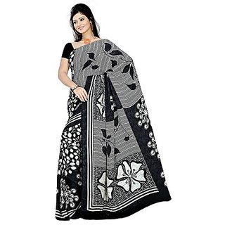Sitaram Black Art Silk Printed Saree