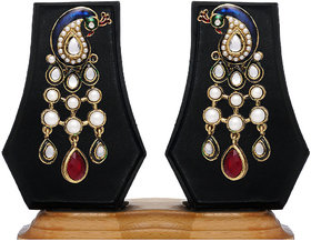 Peacock Designer Earring By Zaveri Pearls
