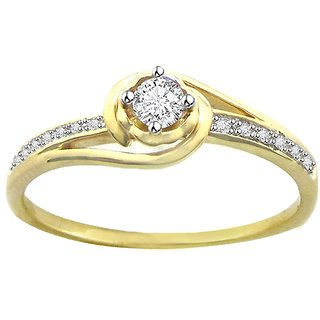 Diagold Solitaire 18kt Hallmarked Ring