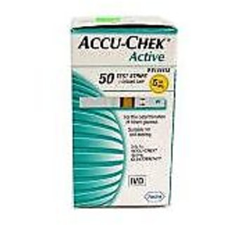 Accu-Chek Active Test Strip Box  (50 Strips) - Combo of 5
