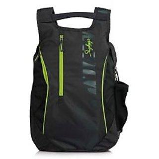 Skybags BEETLE 03 Dark Grey Dobby Fabric Laptop Backpack